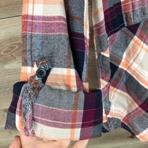 Anthropologie Tops - Anthropologie Holding Horses Plaid Seamed Top